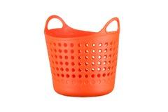 Plastic basket isolated on white background Stock Photos