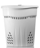 Plastic basket for laundry Stock Photos
