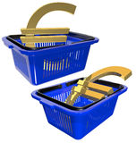 Plastic basket for shopping Royalty Free Stock Photos