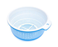Plastic basket with tub,clipping path included Stock Image