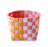 Plastic basket weave made from plastic recycle. Stock Photography