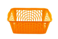 Plastic basket on a white background Royalty Free Stock Photo
