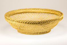 Plastic basket on a white background Stock Photos