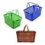 Plastic Baskets Royalty Free Stock Photo