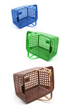 Plastic Baskets Stock Image