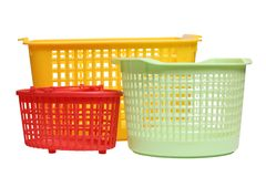 Plastic baskets Royalty Free Stock Image