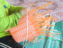 Plastic baskets or bag stock photography