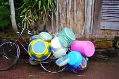 Plastic baskets Stock Photos