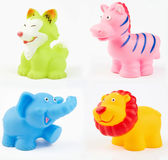 Plastic bath toys Stock Photo