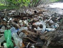 Plastic beach Stock Photo