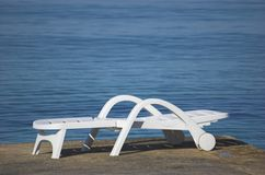 Plastic beach chair Royalty Free Stock Images