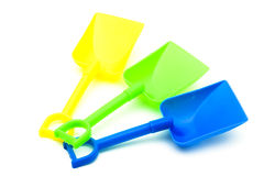 Plastic Beach Shovels Royalty Free Stock Image