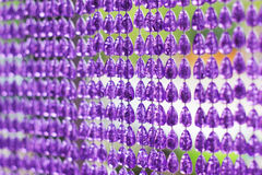 Plastic bead curtain Stock Image