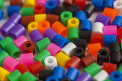 Plastic beads colors Stock Photo