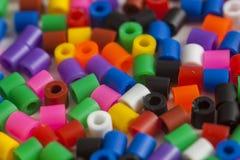 Plastic beads colors Stock Photo