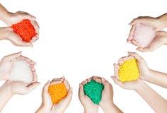 Plastic beads Stock Photography