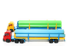 Plastic Bedford Pipe Transport Royalty Free Stock Images