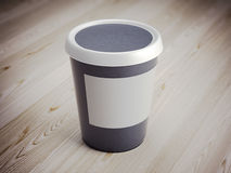 Plastic behållare för vit mat framförande 3d Fotografering för Bildbyråer