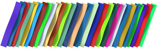 Plastic belts background Stock Photography