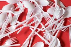 Plastic beschikbaar bestek royalty-vrije stock afbeeldingen