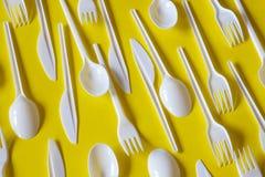 Plastic beschikbaar bestek royalty-vrije stock fotografie