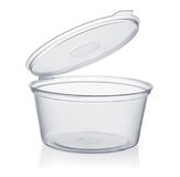 Plastic beschikbare sauskop Royalty-vrije Stock Afbeeldingen
