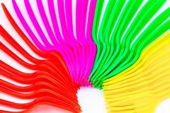 Plastic bestek Stock Afbeeldingen