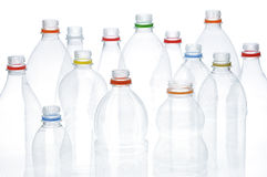 Plastic beverage bottles for recycling. Royalty Free Stock Photography