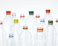 Plastic beverage bottles for recycling. Royalty Free Stock Image