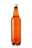 Plastic bierfles Stock Afbeeldingen