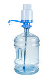 Plastic big bottle for water and pomp Stock Photos