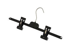 Plastic black pants hanger with pegs Royalty Free Stock Photography