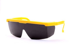 Plastic black safety goggles Stock Photography