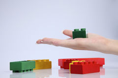 Plastic block Royalty Free Stock Image