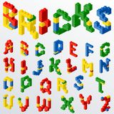 Plastic Block Toys Letters. Stock Photo