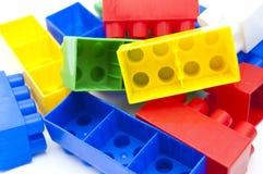 plastic blockhögar royaltyfri fotografi