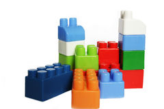 Plastic blocks Royalty Free Stock Photography