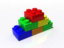 Plastic blocks. Podium illustration isolated on white Stock Photo