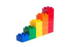 Plastic blocks Royalty Free Stock Photos