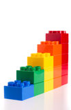 Plastic Blocks Stock Photo