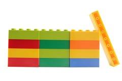 Plastic blocks Royalty Free Stock Photos