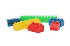Plastic blocks Royalty Free Stock Image