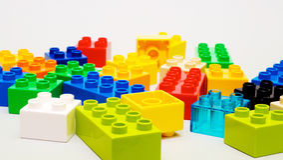 Plastic Blocks Stock Image