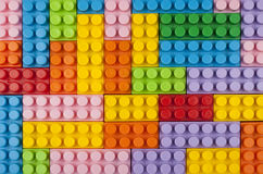 Plastic blocks background Stock Photos