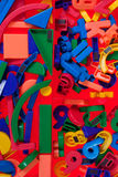 Plastic blocks, geometrical figures royalty free stock images