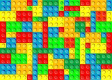 Plastic blocks. seamless texture Stock Photos