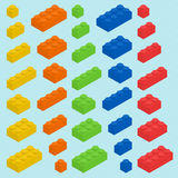 Plastic blocks set Royalty Free Stock Photos