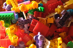 Plastic blocks. Toys for children. Building Royalty Free Stock Images