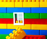 Plastic Blocks wall Royalty Free Stock Photography