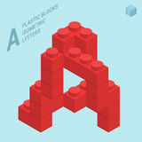 Plastic blocs  letter A Stock Images